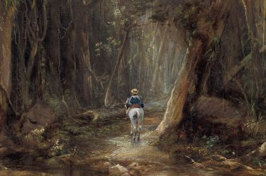 Conrad Martens, England/Australia 1801-1878 / Forest, Cunningham's Gap 1856 / Watercolour on paper / Purchased 1998 with funds raised through The Conrad Martens Queensland Art Gallery Foundation Appeal and with the assistance of the Queensland Government's special Centenary Fund / Collection: Queensland Art Gallery