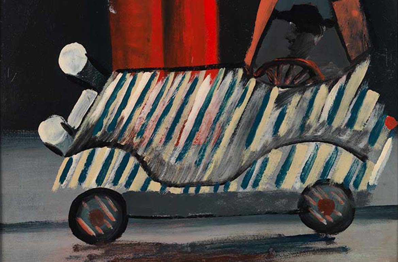 Charles Blackman, Australia b.1928, Barnes Auto Brisbane 1952