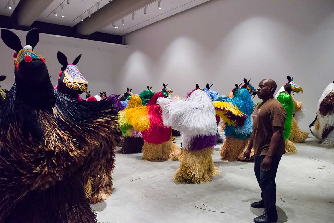 Rehearsals for Nick Cave's HEARD•BNE 2016 performance to mark the tenth anniversary of GOMA, December 2016 - January 2017 at the Gallery of Modern Art