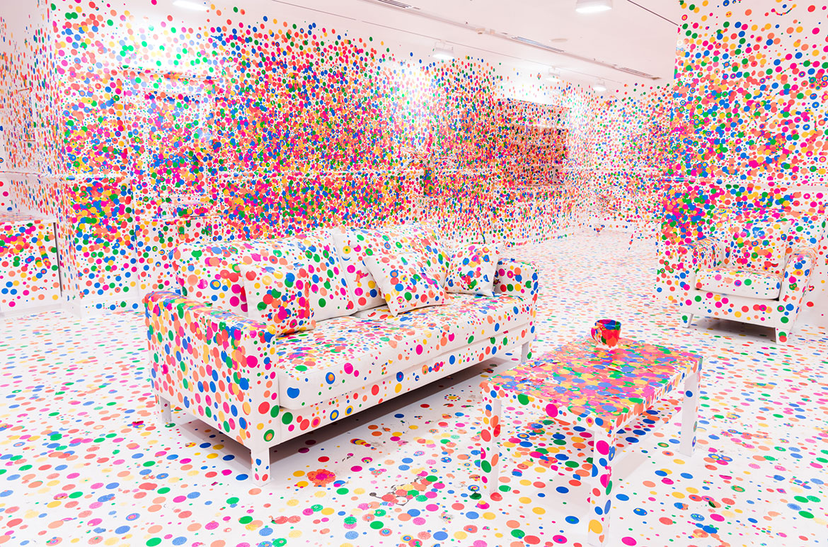 Yayoi Kusama, Japan b.1929 / The obliteration room (installation views) 2002 to present