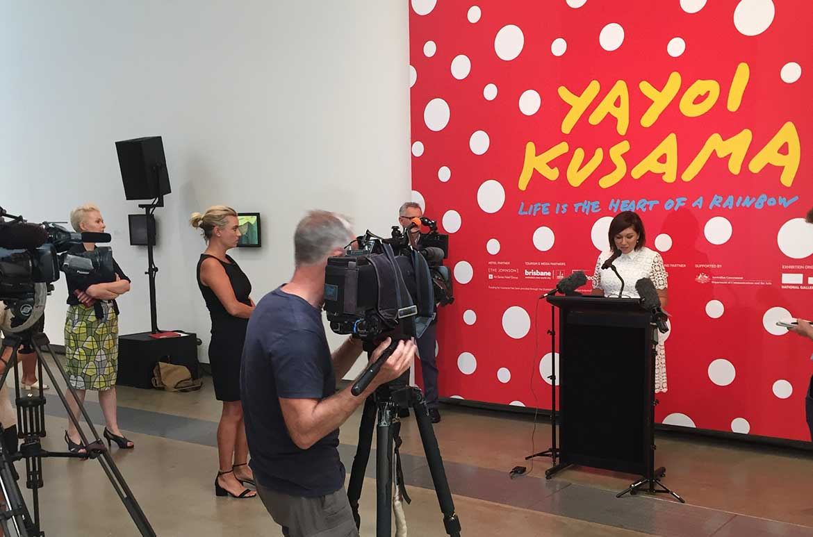 Queensland Arts Minister Leeanne Enoch announcing that Queensland can be rightly proud of QAGOMA, which has cemented its place as one of Australia's pre eminent and most exciting art institutions.